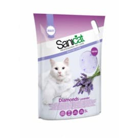 Наполнитель Sanicat Diamonds Lavender силикагель, 5 л(2,4кг)