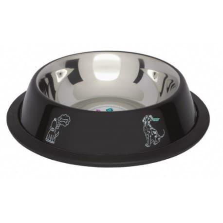 LoloPets Миска черная на резиновой основе, 0,45 л