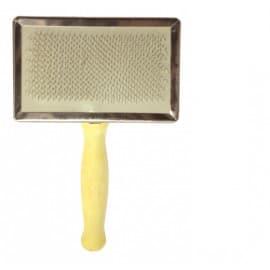 Lolo Pets Щетка-пуходерка с деревянной ручкой, 12,5x6 см