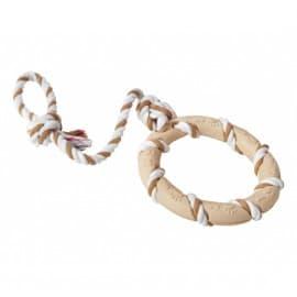 Lolo Pets Кольцо на веревке, резина, 47x14 см
