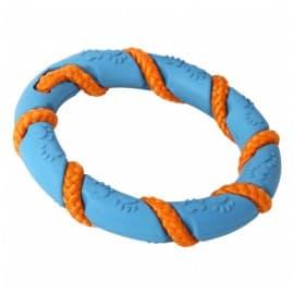Lolo Pets Кольцо резиновое с веревкой, 13,5 см