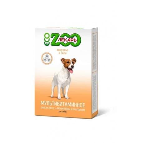 """Лакомство мультивитаминное """"ЭКО ZOOЛЕКАРЬ"""" для собак """"Здоровье и сила"""", 90 таб"""