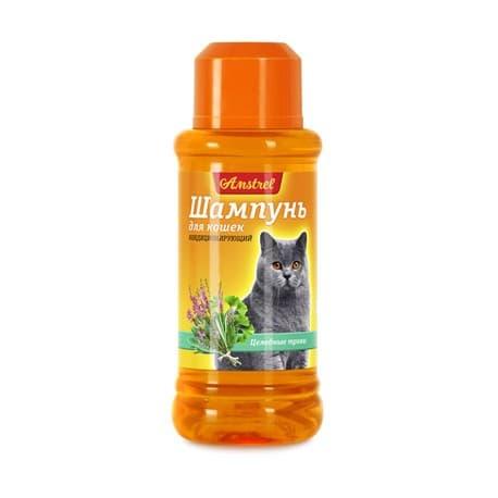 Шампунь Amstrel для кошек кондиционирующий с целебными травами, 320мл