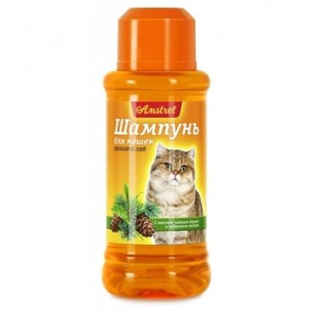Шампунь Amstrel для кошек гигиенический с маслом чайного дерева и кедровым маслом, 320мл