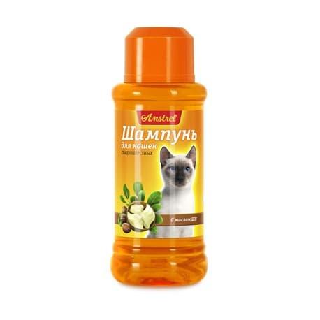 Шампунь Amstrel для кошек гладкошерстных с маслом ши, 320мл