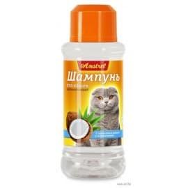 Шампунь Amstrel для кошек восстанавливающий с кокосовым маслом и пантенолом, 320мл