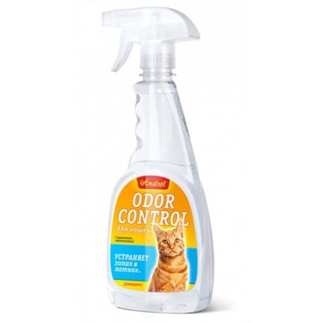 "Средство Amstrel ""Odor control"" устраняет запах лотка для кошек (спрей), пр-во РБ, 500 мл"