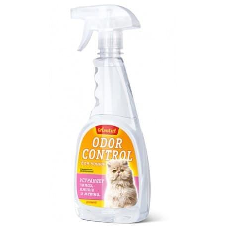 "Средство Amstrel ""Odor control"" устраняет запах, пятна, метки для кошек (спрей), пр-во РБ, 500 мл"