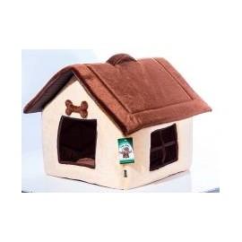 """Дом для кошек и собак ГЮ-ВАС """"УЮТ"""" с окнами размер 45х40см."""