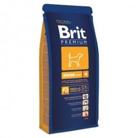 Брит 15кг Brit Premium Senior M для пожилых собак средних пород,