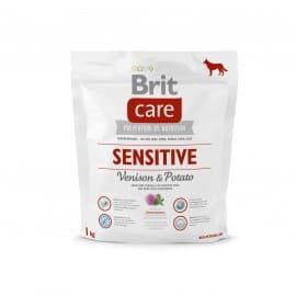 Брит 1 кг NEW Care Dog Sensitive (Venison) д/собак с чувств. пищеварением, оленина с карт.