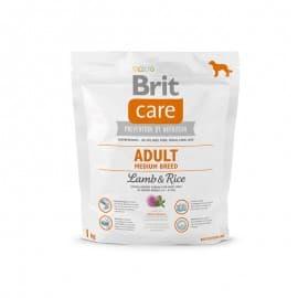 Брит 1кг NEW Care Adult Medium Breed д/взросл. собак средн.пород, ягненок с рис.