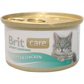 Брит Консервы д/котят Brit Care Kitten Chicken Цыпленок, 80г