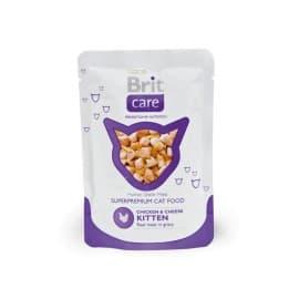 Брит Пауч д/котят Chicken&Cheese Kitten Курица и сыр для котят, 80г