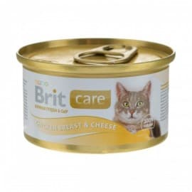 Брит Консервы д/кошек Brit Care Chicken Breast&Cheese Куриная грудка и сыр, 80г