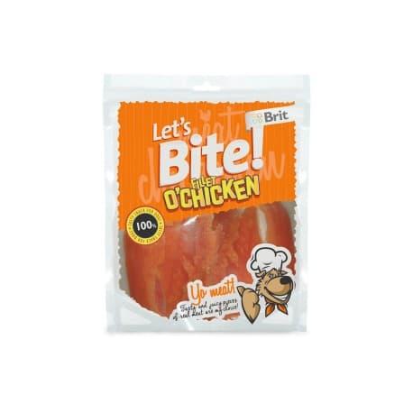 Брит NEW Лакомство д/собак Let's Bite Fillet o'Chicken Куриная грудка, 80г
