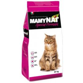 MAMYNAT Корм для взрослых кошек курица и индейка обезвоженное мясо (35% из которого курица и индейка 16%), 20 кг