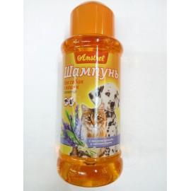 Шампунь Amstrel репеллентный для кошек и собак с маслом лаванды и чайного дерева, 320мл