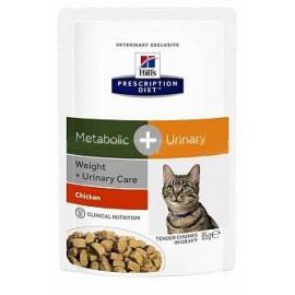 Hill's PD Feline Metabolic+Urinary (Система контроля веса и урологический синдром) 0,085 кг