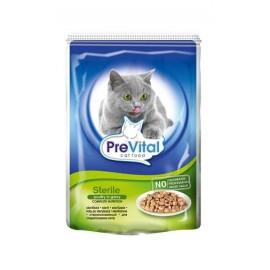 PreVital Классик консервы для cтерилизованных кошек с печенью в соусе, 100 гр.