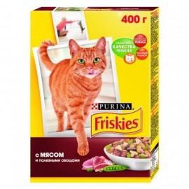 Friskies Корм сухой полнорационный для взрослых кошек с мясом и полезными овощами (0,4 кг.)