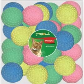 Игрушка для кошек Triol мяч для гольфа одноцветный диаметр 4,5 см
