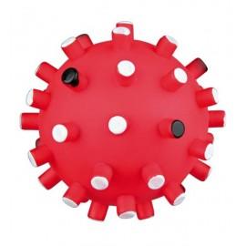 """Игрушка TRIXIE виниловая для собаки """"Шарик-Ёжик"""" с цветными шипами, со звуком, диаметр 6 см"""