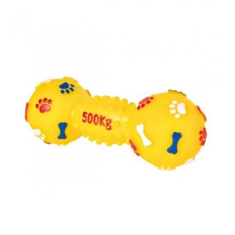 """Игрушка TRIXIE виниловая для собаки """"Гантель"""" со звуком, диаметр 15 см"""