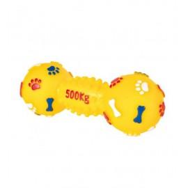 """Игрушка TRIXIE виниловая для собаки """"Гантель"""" со звуком, диаметр 19 см"""