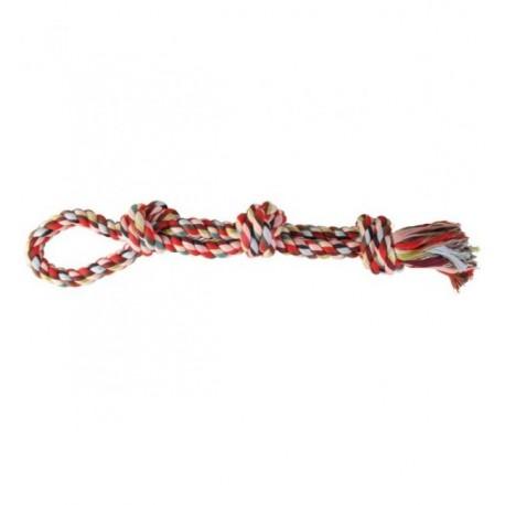 """Игрушка TRIXIE для собаки """"DENTAfun"""" в виде верёвки с 3 узлами, хлопковая 500г/60 см"""