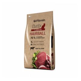 Беззерновой корм Fitmin Cat Purity Hairball для взрослых длинношерстных кошек (0,4 кг)