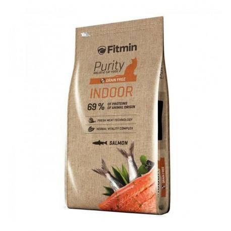 Беззерновой корм Fitmin Cat Purity Indor для взрослых кошек, живущих в доме (10 кг)