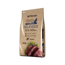 Беззерновой корм Fitmin Cat Purity Delicious для привередливых взрослых кошек (10 кг)