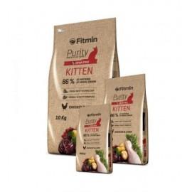 Беззерновой корм Fitmin Cat Purity Kitten для котят до 12 месяцев, беременных и кормящих кошек (10 кг)
