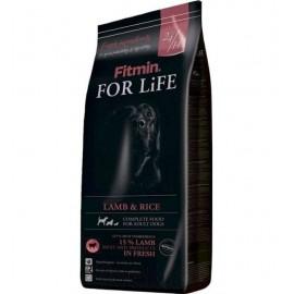 Сухой корм Fitmin For Life LAMB & RICE для взрослых собак всех пород, с ягненком и рисом (15 кг)
