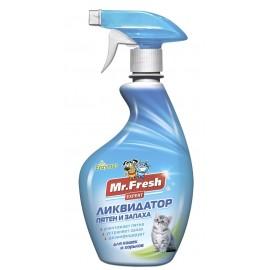 Mr. Fresh Ликвидатор пятен и запаха для кошек и хорьков 3в1, 500 мл