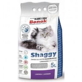 Наполнитель для кошек S.Benek комкующийся 5л с ароматом лаванды