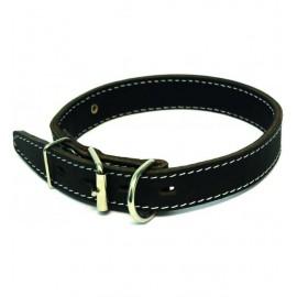 Ошейник кожаный двойной с кольцом перед пряжкой шир. 20 мм, обхват шеи 27-35 см
