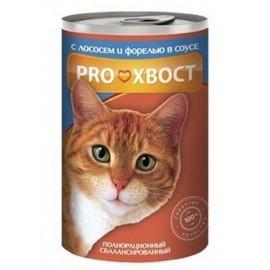 Консерва «Прохвост» для кошек, лосось, форель (415 г)