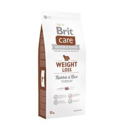Сухой корм Brit Care Weight Loss для собак склонных к полноте, кролик с рисом (12 кг)