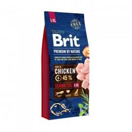 Брит 15кг Brit Premium Senior XL для пожилых собак гигантских пород,