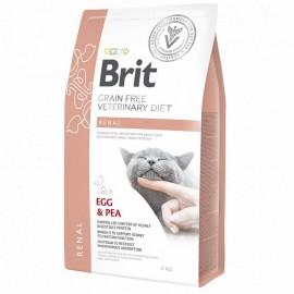 Brit VDC Renal Egg&Pea, беззерновая диета при заболеваниях почек для кошек (2 кг)