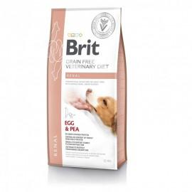 Сухой корм Brit VDD Renal Egg&Pea беззерновая диета при почечной недостаточности и заболевании почек для собак (12 кг)