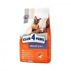 Сухой корм для кошек Club 4 Paws Премиум для взр. кошек живущих в помещении, 14 кг