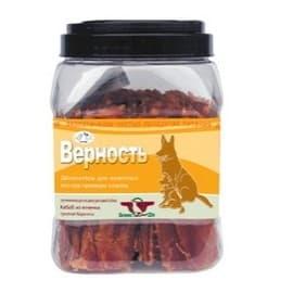 Лакомство для собак Green Qzin ВЕРНОСТЬ юниор (Мягкое сушеное мясо ягненка туба 750гр