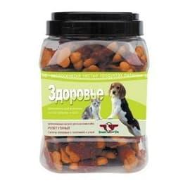 Лакомство для собак Green Qzin ЗДОРОВЬЕ (Галеты с телятиной и уткой) туба 750гр