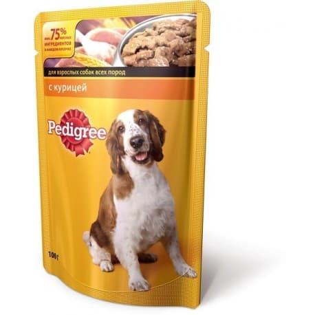 Влажный корм для собак Pedigree Курица (100гр.)