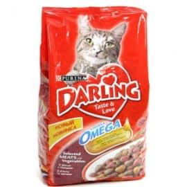 Darling. Корм сухой полнорационный для взрослых кошек с мясом по-домашнему и овощами (2 кг.)