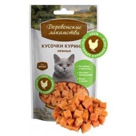 Лакомства для кошек Кусочки куриные нежные для кошек, 45г