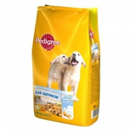 Сухие корма для собак Pedigree для щенков молочные подушечки (600гр.)